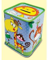 Jungle Tin Money Box